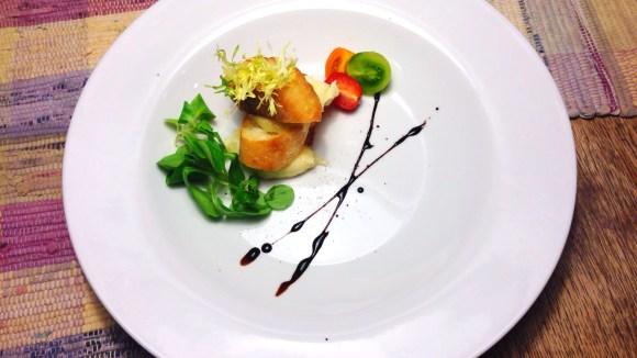 Whipped Brie de Meaux en Feuilleté with Black Pepper and Baby Mâche