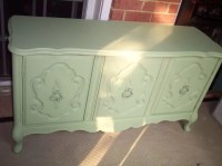 Pretty Mint Green French Provincial Cabinet