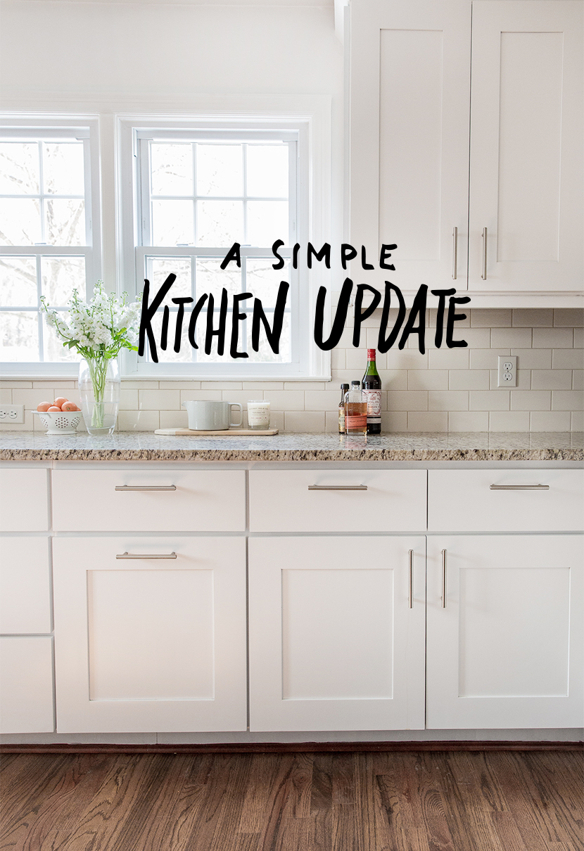 How To Update Kitchen Cabinets A Simple Kitchen Update Fresh Exchange