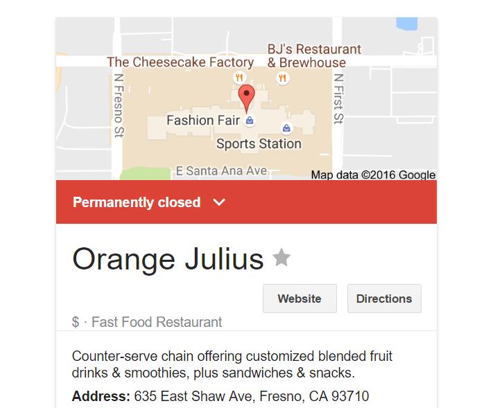 fresno fashion fair orange julius Google Search