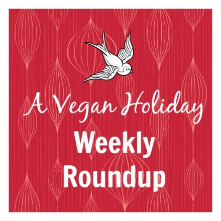 vegan holiday square logo WEEKLY ROUNDUP