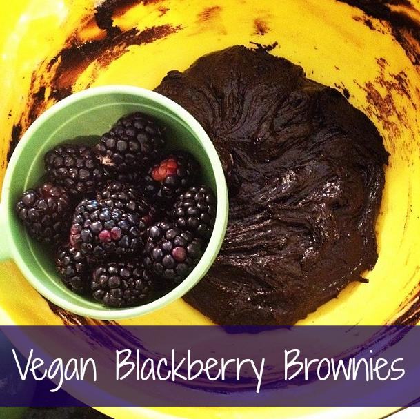 Vegan Blackberry Brownies