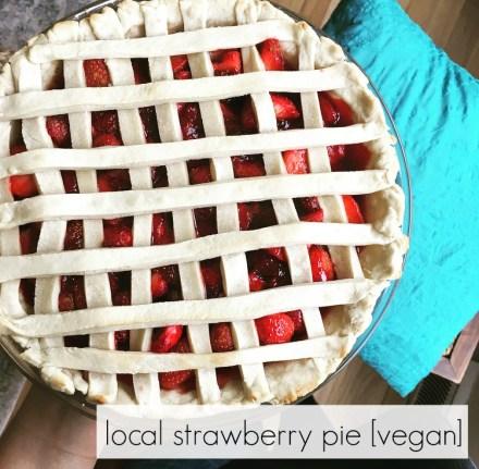 Easy Vegan Strawberry Pie