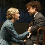 Taylor Schilling and Peter Dinklage. Photo by Joan Marcus