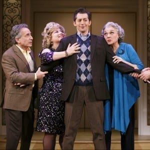 Chip Zien, Anne L Nathan, Josh Grisetti, Tyne Daly, in It Shoulda Been You - Photo by Joan Marcus