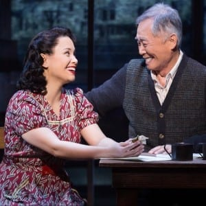 ALLEGIANCE Lea Salonga and George Takei; Photo by Matthew Murphy