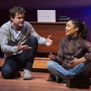 Joshua Jackson and Tessa Thompson in SMART PEOPLE Photo by Matthew Murphy