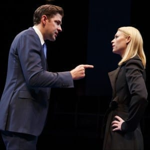 Dry Powder, Public Theater;John Krasinski, Claire Danes; photo by Joan Marcus