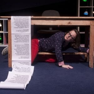 How to Keep an Alien: Sonya Kelly, Irish Arts Center, Photo by Ger Holland