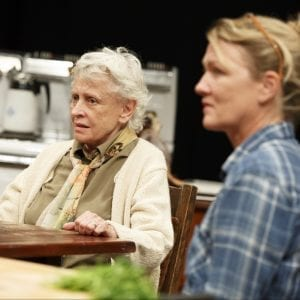 THE GABRIELS: Election Year in the Life of One Family Play Two: WHAT DID YOU EXPECT? Roberta Maxwell and Lynn Hawley; Photo by Joan Marcus