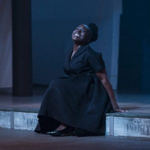 "Maechi Aharanwa as Retha in ""Sweet"" at NBT. Photo by Peter Cooper."