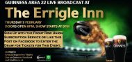 Win Tickets for Guinness Area 22 at The Errigle. 