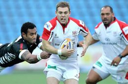 Darren Cave's rich vein of form continues with a try against Zebre. Picture from BBC Sport.