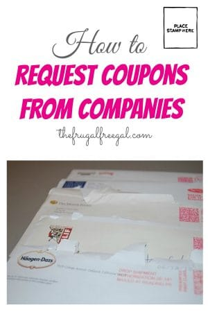 How to Request Coupons from Companies The Frugal Free Gal - thank you letter format