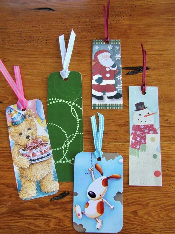How to make Homemade Bookmarks from Cards! - The Frugal Girls