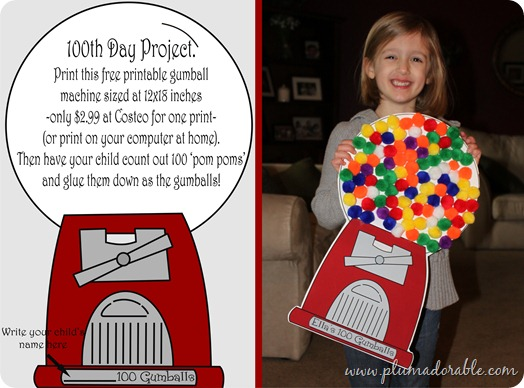 100th Day of School Project Gumball Machine! - The Frugal Girls