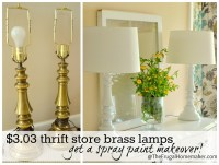 Revamp My Lamp {10 Spray Painted Lamp Ideas}
