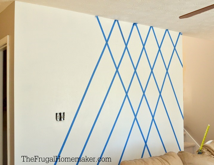 Cat Tembok 3d How To Paint A Diamond Accent Wall Using Scotchblue