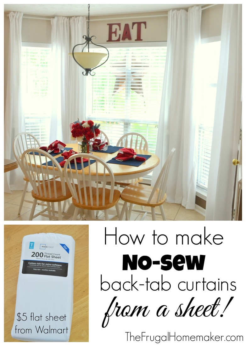 Make Curtains No Sew Inexpensive Long Curtains Made From Sheets
