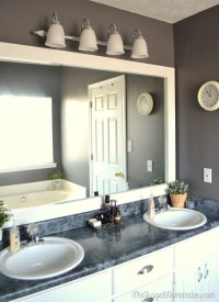 How to frame out that builder basic bathroom mirror (for ...