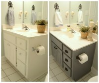 Guest bathroom update  Farmhouse style bathroom gray