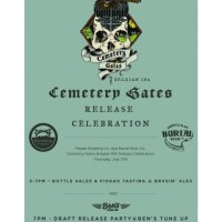 "Pisgah Brewing Co. & Burial Beer Co. Collaboration ""Cemetary Gates"""