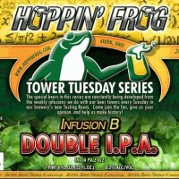 Hoppin' Frog Infusion B Double IPA Release July 30, 2014