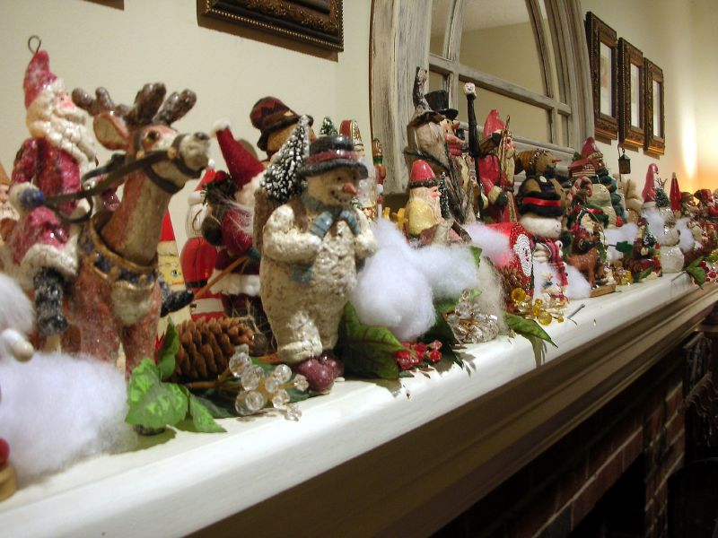 Mantel Christmas Decorating Ideas Home Improvement Living Room - christmas decorations for mantels