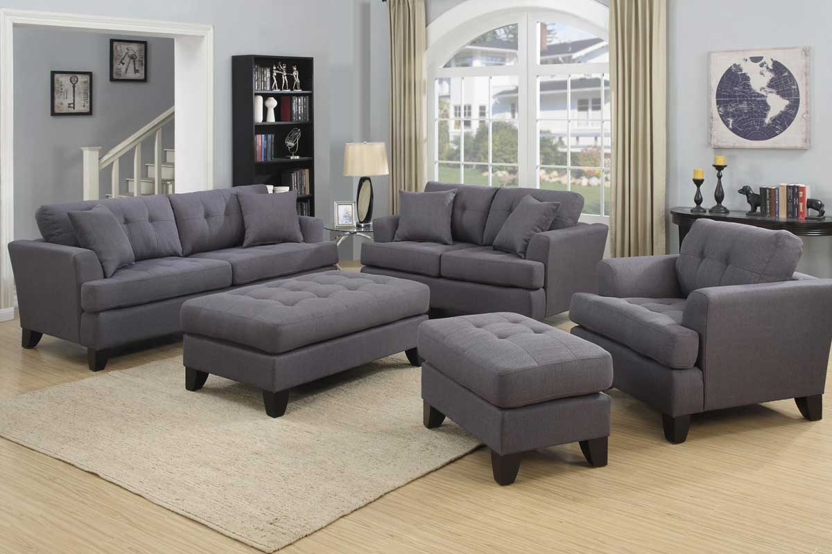 Norwich Gray Sofa Set The Furniture Shack Discount