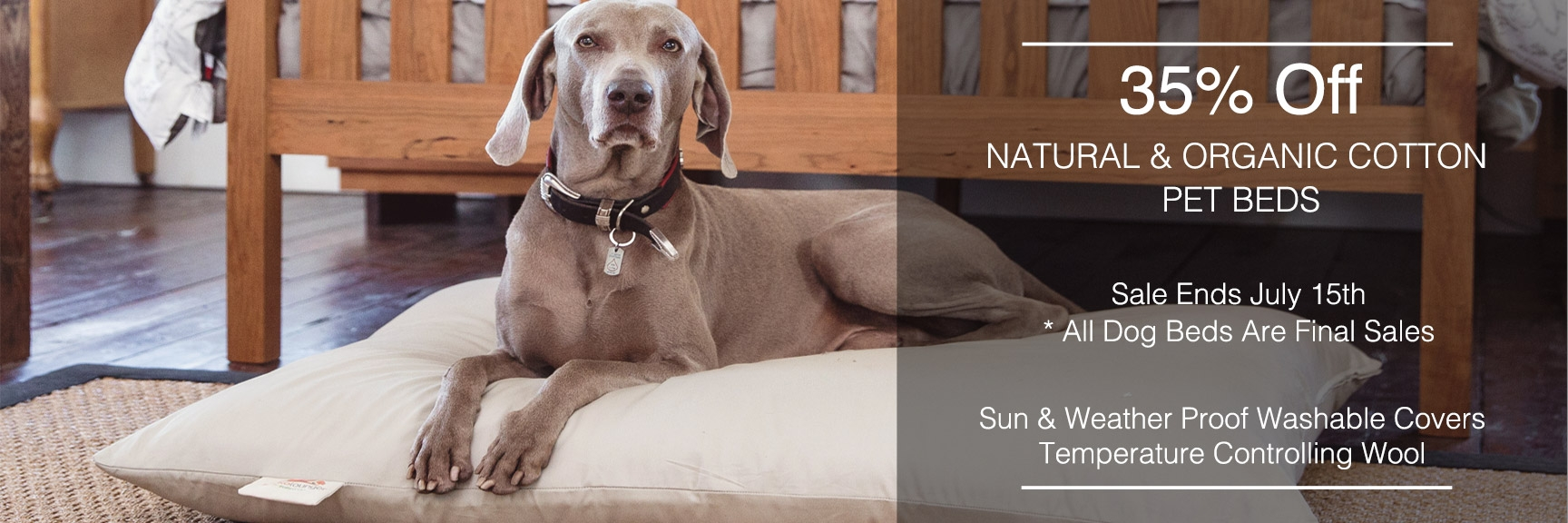 Dog Beds Pet Organic Cotton Dog Beds Natural Pet Bedding