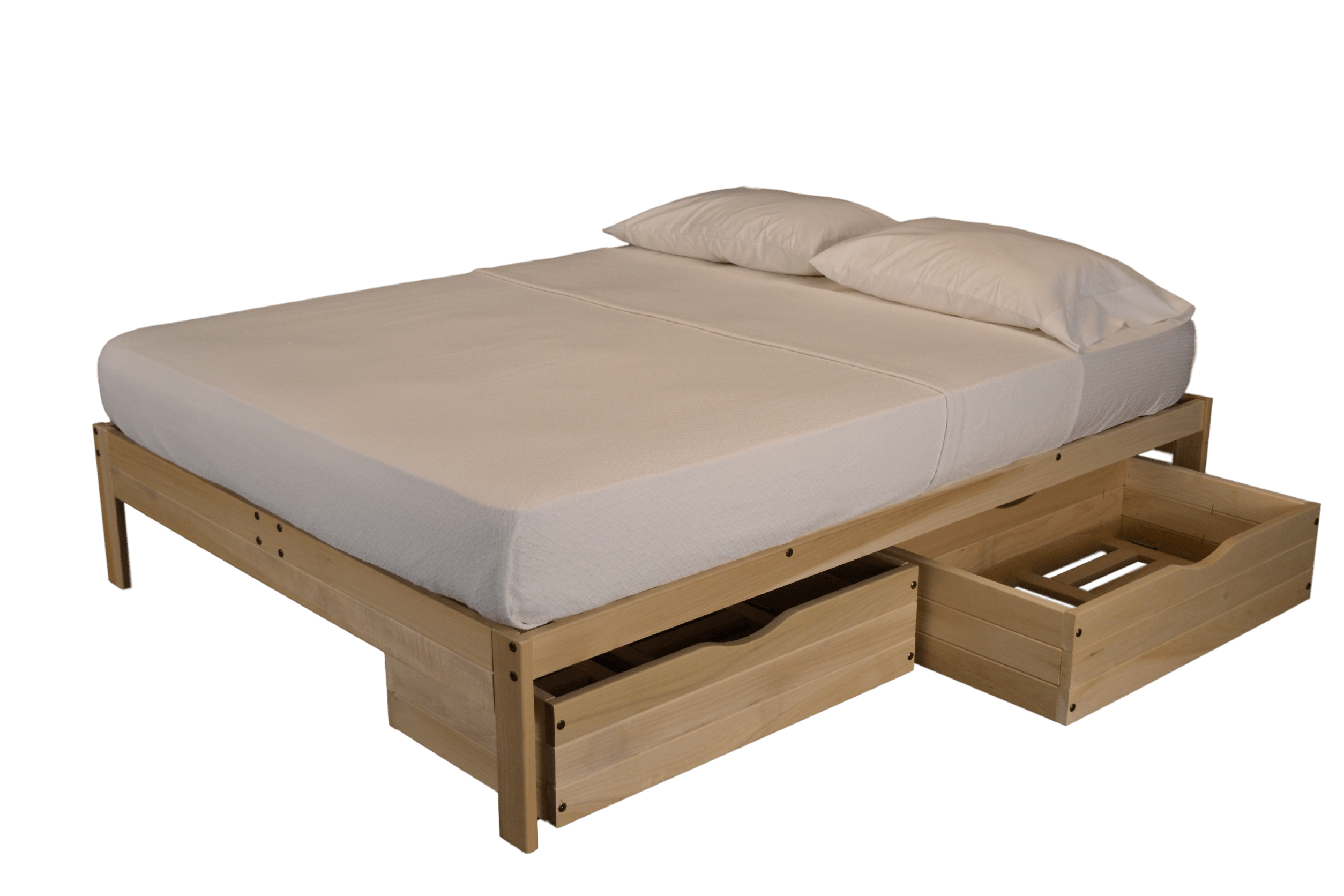 White Platform Bed Without Headboard Unfinished Platform Bed Without Headboard The Futon Store And