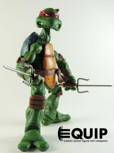 Custom weapons for TMNT 2012 TMNT-Custom-Crafted-MINI-SAI-Ninja-Turtles-RAPHAEL-for-NECA-FIGURE-1