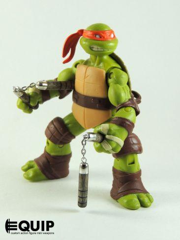 Custom weapons for TMNT 2012 TMNT-Custom-crafted-mini-nunchucks-Ninja-Turtles-Michelangelo-1