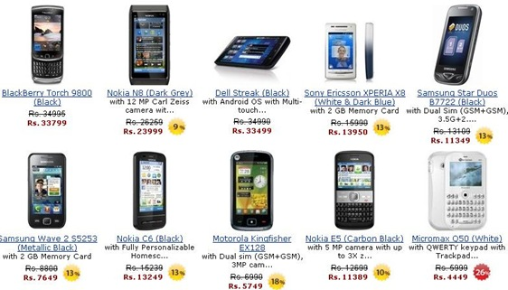 Nokia N8 Nokia E5 Dell Tablet PC Dell Streak Dell Smartphone Blackberry Torch