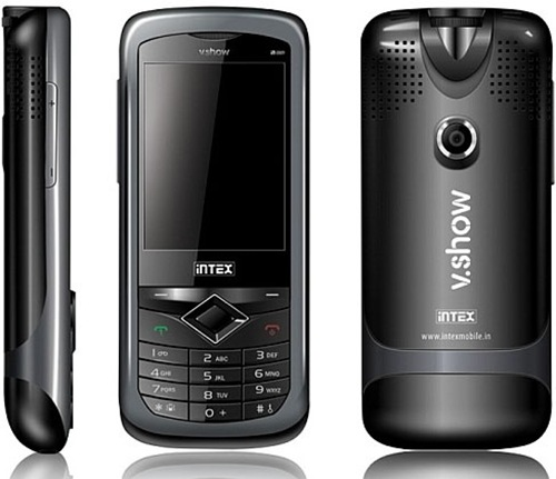 projector phones india mobile projector india Intex V.Show Mini IN 8809 intex projector phones intex project phone price india