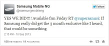 Samsung Claims A 3 month exclusive on BBM For Android, Blackberry Denies