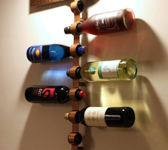 Mounted Wine Bottle Holder Gadget Flow