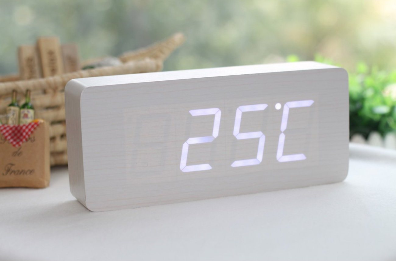 Small Led Alarm Clock Wood Grain Led Alarm Clock Review