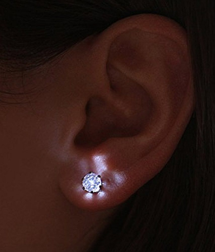 Led Earrings Night Ice Led Crystal Earrings