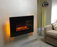 Wall-Mounted Indoor Electric Fireplace  Gadget Flow