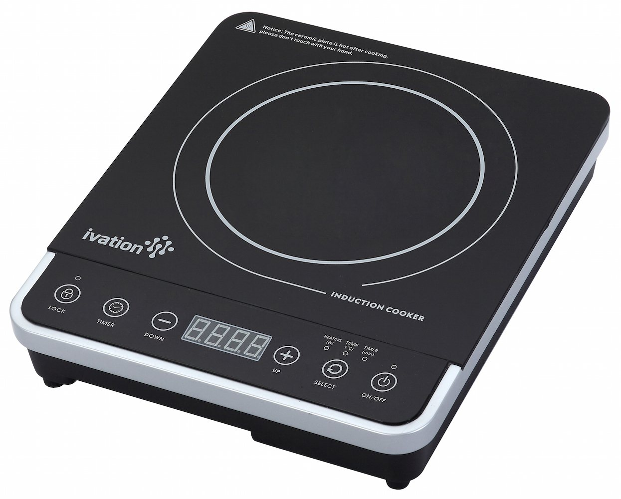 Induction Cooktop Ivation 1800 Watt Portable Induction Countertop Cooktop