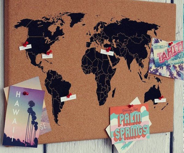 World Map Cork Board Review