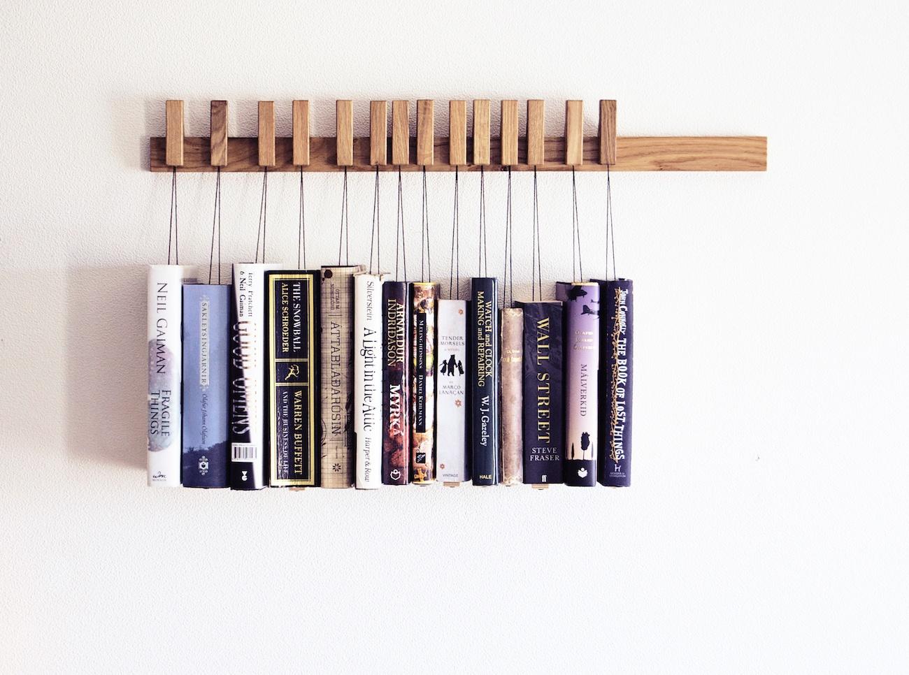 Wooden Book Rack In Oak Gadget Flow