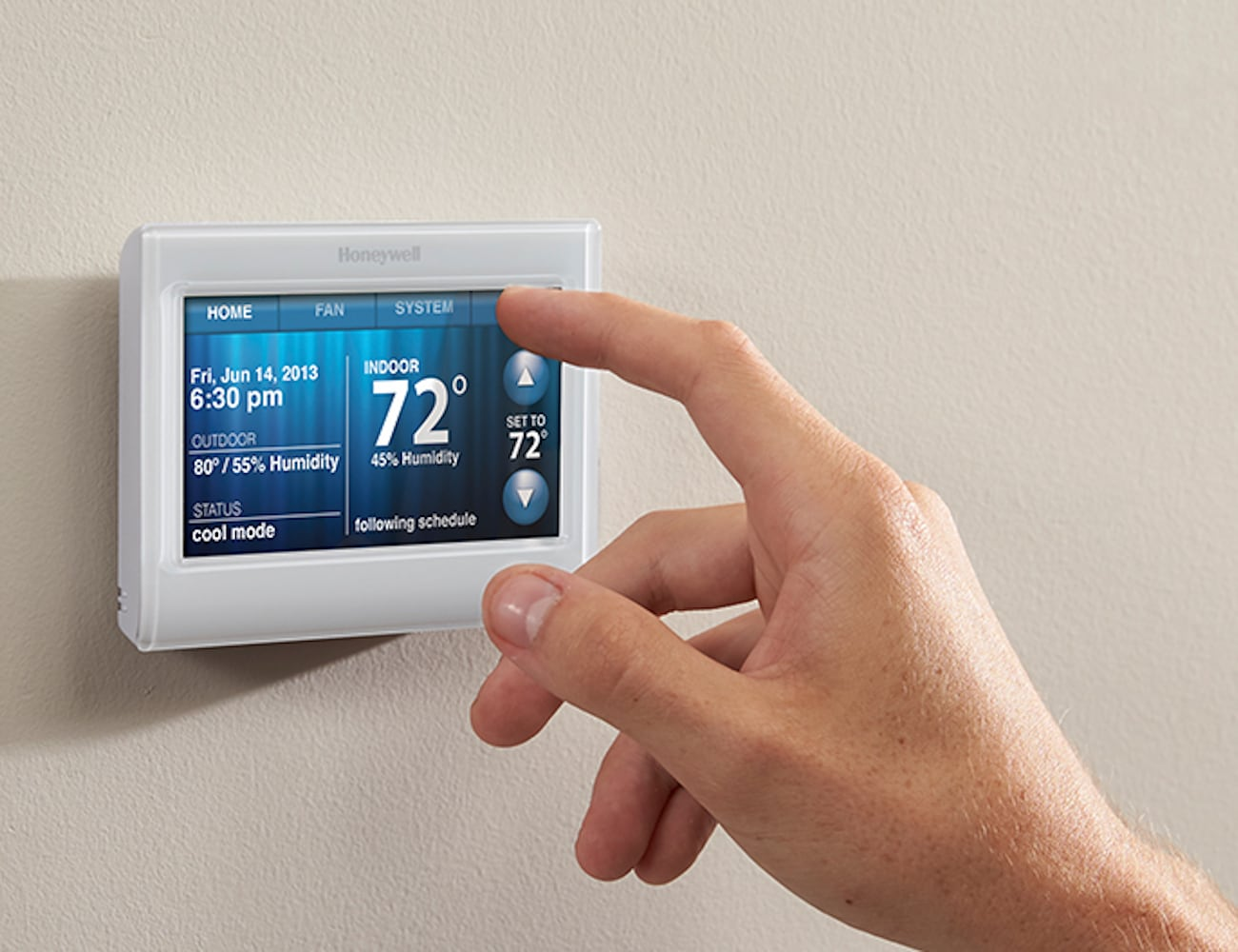 Honeywell Programmable Thermostat Honeywell Wi Fi 9000 7 Day Programmable Thermostat