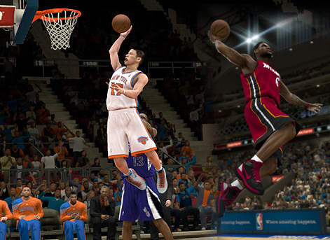 LeBron James vs Jeremy Lin NBA 2K12 to the Blacktop