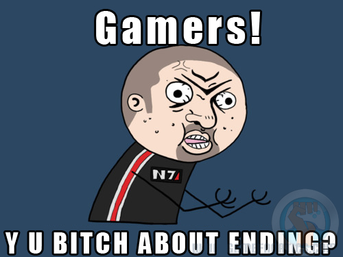 mass effect 3 Y U NO ending meme Gamers: 1 Bioware: 0 As New Mass Effect 3 Ending Announced?