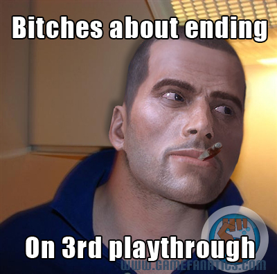mass effect 3 cool guy greg meme ending