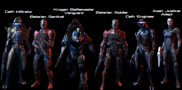 Characters1 600x299 Mass Effect 3 Multiplayer Gets New Toys With The Resurgence Pack