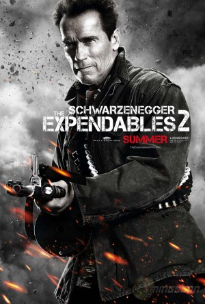 Schwarzenegger 300x444 Debut of The Expendables 2 Character Posters