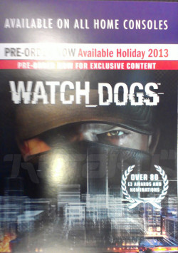 watch dogs poster 2b Watch Dogs to be Released During 2013 Holiday Season